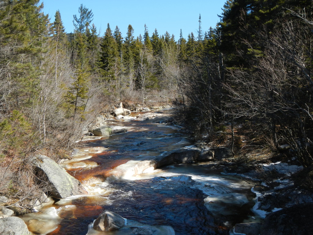 Here's the North Fork from the footbridge about a half-mile above Thoreau Falls. Looks great to paddle here.